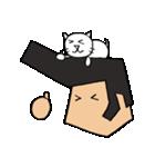 リーゼントおじさんと猫(個別スタンプ:01)