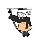 リーゼントおじさんと猫(個別スタンプ:13)