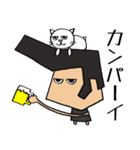リーゼントおじさんと猫(個別スタンプ:27)
