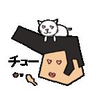 リーゼントおじさんと猫(個別スタンプ:34)
