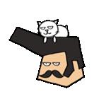 リーゼントおじさんと猫(個別スタンプ:36)