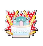カエルアイスクリーム(にゅ~)(個別スタンプ:23)