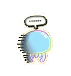 可愛いくらげのスタンプ 1(半透明)
