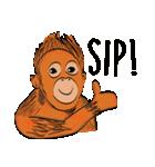 Baby Orangutan (Indonesian)(個別スタンプ:07)
