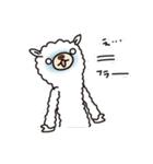 白いアルパカさん〜返信リアクション〜(個別スタンプ:24)