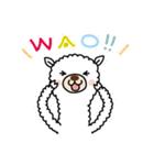 白いアルパカさん〜返信リアクション〜(個別スタンプ:27)