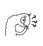 白いアルパカさん〜返信リアクション〜(個別スタンプ:30)