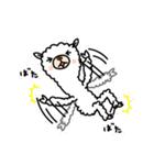 白いアルパカさん〜返信リアクション〜(個別スタンプ:33)