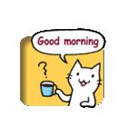窓辺の白猫さん(個別スタンプ:01)