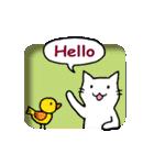 窓辺の白猫さん(個別スタンプ:02)