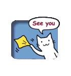 窓辺の白猫さん(個別スタンプ:04)