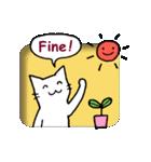 窓辺の白猫さん(個別スタンプ:05)