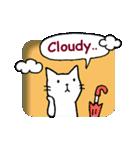 窓辺の白猫さん(個別スタンプ:07)