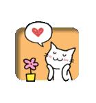 窓辺の白猫さん(個別スタンプ:08)