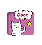 窓辺の白猫さん(個別スタンプ:09)