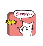 窓辺の白猫さん(個別スタンプ:19)