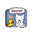 窓辺の白猫さん(個別スタンプ:25)
