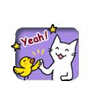 窓辺の白猫さん(個別スタンプ:26)