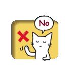 窓辺の白猫さん(個別スタンプ:31)