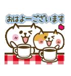 しろねこ&三毛猫♥丁寧パック【ゆる日常】(個別スタンプ:17)