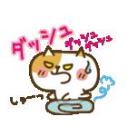 しろねこ&三毛猫♥丁寧パック【ゆる日常】(個別スタンプ:19)