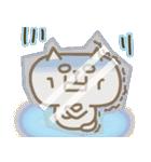 しろねこ&三毛猫♥丁寧パック【ゆる日常】(個別スタンプ:36)