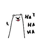 フサフサマユゲのしろくまさん 英語 ver.(個別スタンプ:01)