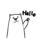 フサフサマユゲのしろくまさん 英語 ver.(個別スタンプ:05)
