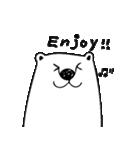 フサフサマユゲのしろくまさん 英語 ver.(個別スタンプ:30)