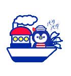 ☆マリンくまとペンギン★(個別スタンプ:14)