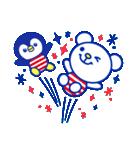 ☆マリンくまとペンギン★(個別スタンプ:18)