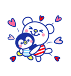 ☆マリンくまとペンギン★(個別スタンプ:20)