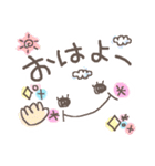 可愛い顔文字。日常編(個別スタンプ:01)