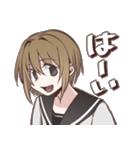 セーラー女子学生「九条 美姫」の日常会話(個別スタンプ:03)