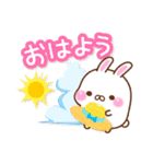 おもちうさぎの夏(個別スタンプ:01)
