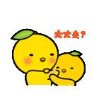 柚子ヒヨ 親子(個別スタンプ:11)