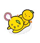 柚子ヒヨ 親子(個別スタンプ:35)