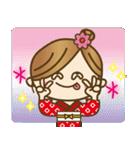 着物(浴衣)の女の子【お正月のご挨拶】(個別スタンプ:15)