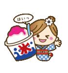 着物(浴衣)の女の子【お正月のご挨拶】(個別スタンプ:19)