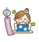 着物(浴衣)の女の子【お正月のご挨拶】(個別スタンプ:34)