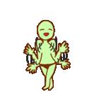 落ち着け!緑男(個別スタンプ:03)