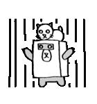 シロ箱クマと猫(個別スタンプ:09)