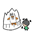 シロ箱クマと猫(個別スタンプ:13)