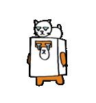シロ箱クマと猫(個別スタンプ:16)