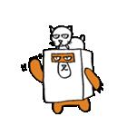 シロ箱クマと猫(個別スタンプ:21)