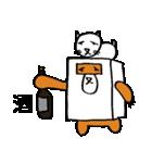 シロ箱クマと猫(個別スタンプ:24)