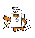 シロ箱クマと猫(個別スタンプ:25)