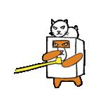 シロ箱クマと猫(個別スタンプ:31)