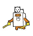 シロ箱クマと猫(個別スタンプ:32)