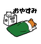 シロ箱クマと猫(個別スタンプ:34)